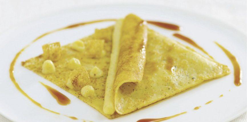 Crêpes flambées sauce caramel au beurre salé