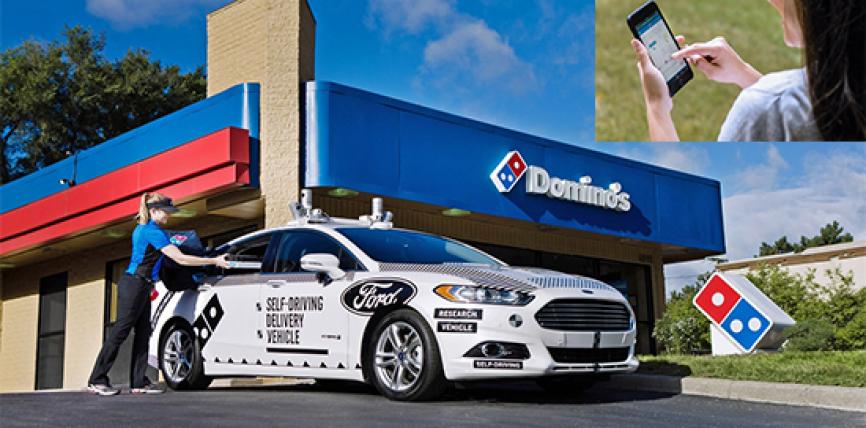 La livraison de pizzas redéfinit par Ford et Domino's