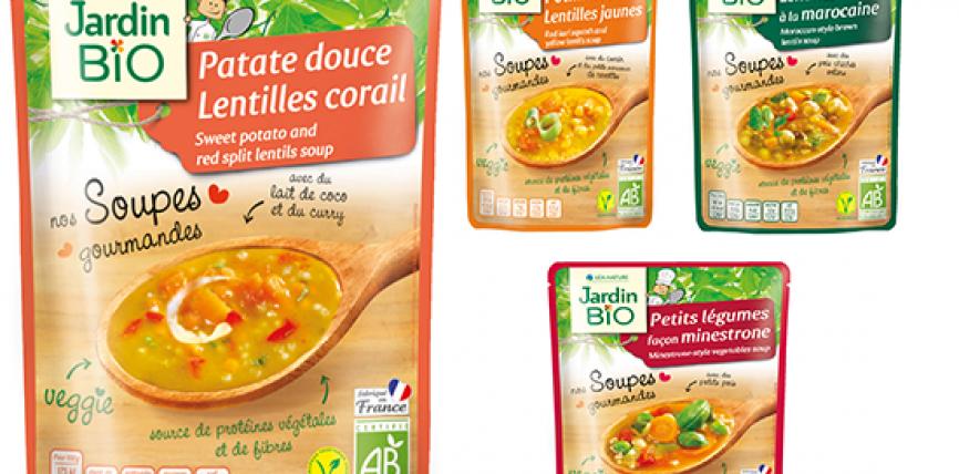 Les soupes bio en sachets express de Jardin Bio