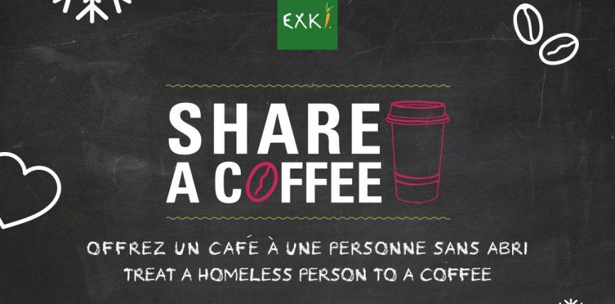 Avec EXKI faites preuve d'altruisme cet hiver et partagez un café